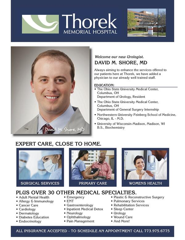 Thorek Welcomes Dr  Shore, Urologist